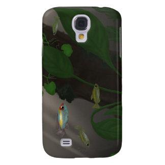Tetra trío de Congo entre las plantas amazónicas Funda Para Samsung Galaxy S4