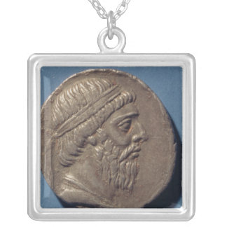 Tetracrachm of Mithradates I Silver Plated Necklace