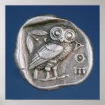 Tetradrachma ateniense póster