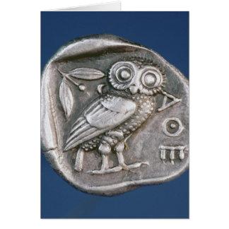 Tetradrachma ateniense tarjeta de felicitación