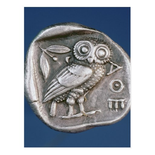 Tetradrachma ateniense postales