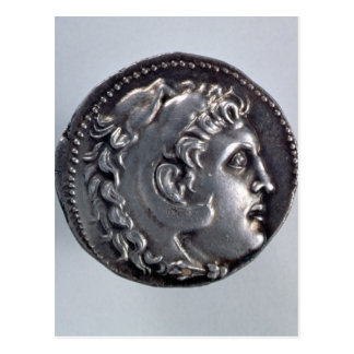 Tetradrachma depicting Alexander the Great Postcard