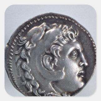 Tetradrachma depicting Alexander the Great Square Sticker