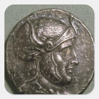 Tetradrachma of Seleucus I  King of Syria Square Sticker