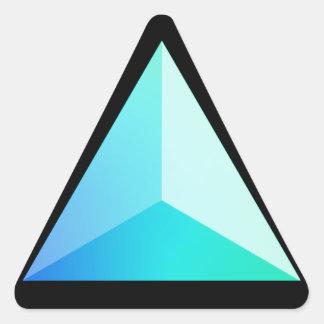 Tetraedro del resplandor del océano calcomanías trianguloes