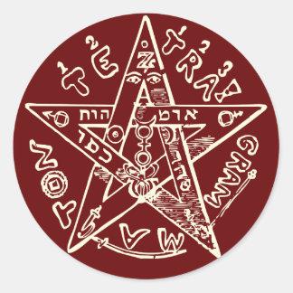 Tetragrammaton Classic Round Sticker