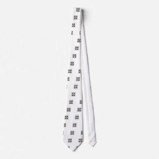 Tetragrammaton cruzado atractivo corbata personalizada
