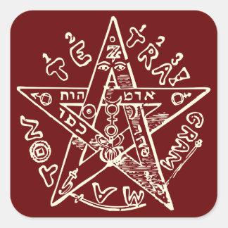 Tetragrammaton Square Sticker
