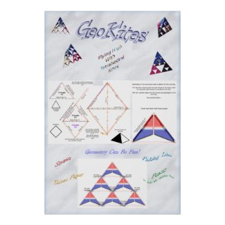 Tetrahedryl Kite Poster print