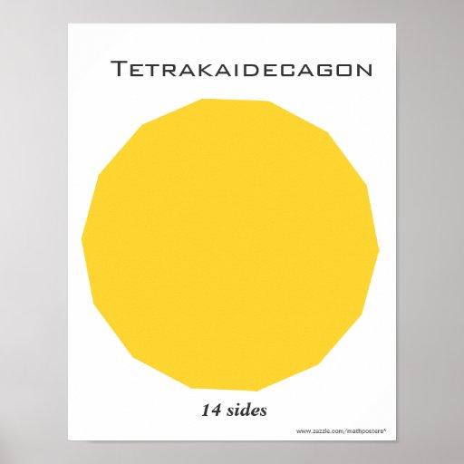 Tetrakaidecagon Poster of Polygon | Zazzle