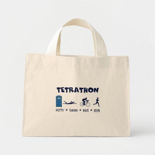 Tetrathon Triathlon T-shirt Mini Tote Bag