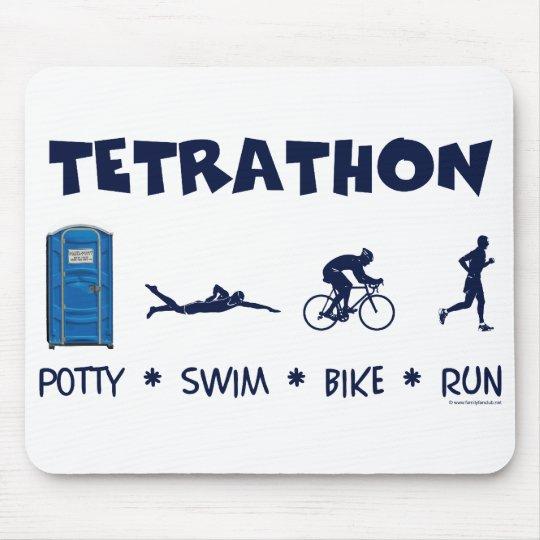 Tetrathon Triathlon T-shirt Mouse Pad