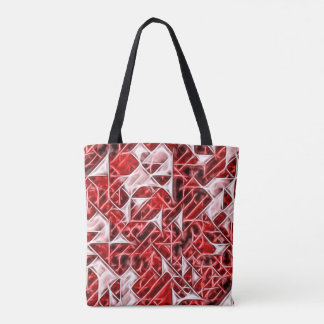 Tetris Nostalgy energetic triangle pattern tote