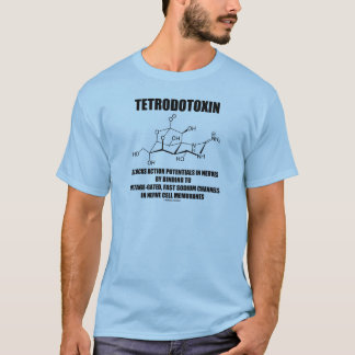 Tetrodotoxin Blocks Action Potentials In Nerves T-Shirt