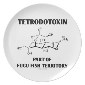 Tetrodotoxin Part Of Fugu Fish Territory Plate