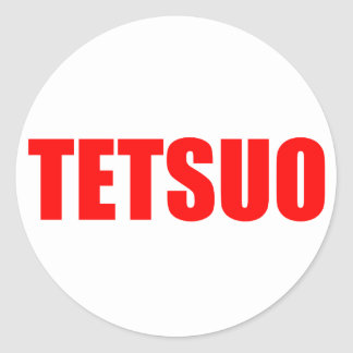TETSUO CLASSIC ROUND STICKER