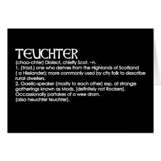 Teuchter Greeting Card