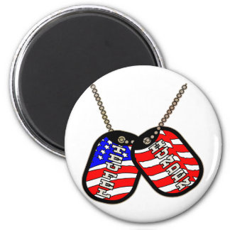Teufel Hunden American Flag Dog Tags 2 Inch Round Magnet
