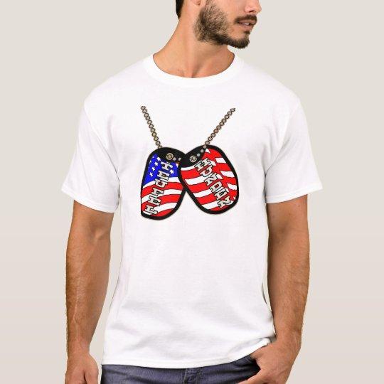 Teufel Hunden American Flag Dog Tags T-Shirt