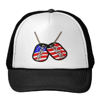 Teufel Hunden American Flag Dog Tags Trucker Hat