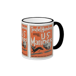 Teufel Hunden ~ Vintage World War 1 Mugs