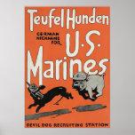 Teufel Hunden ~ Vintage World War 1. Poster