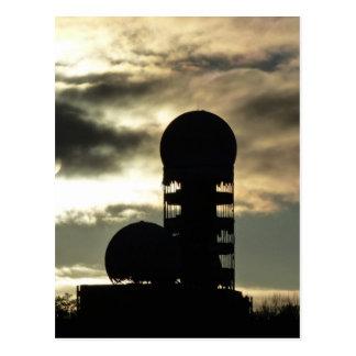 Teufelsberg sunset, Berlin Postcard