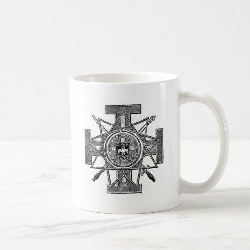 Teutonic cross classic white coffee mug