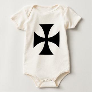 Teutonic Knights Cross #4 Baby Bodysuit