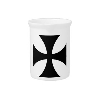 Teutonic Knights Cross #4 Beverage Pitcher