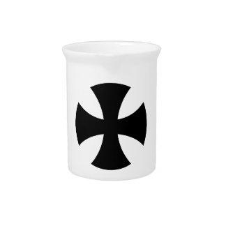 Teutonic Knights Cross Beverage Pitchers