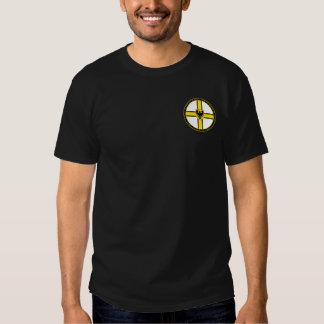 Teutonic Knights White Black & Gold Seal Shirt