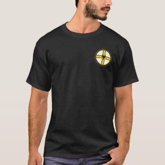 Teutonic Knights White Black & Gold Seal Shirt