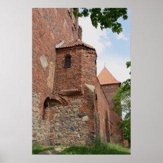 Teutonic Order Castle Neidenburg Poster print