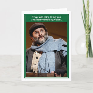 Tevye Milk Money Funny Jewish Birthday Card