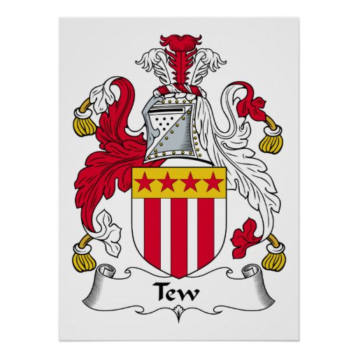 Tew Family Crest Poster
