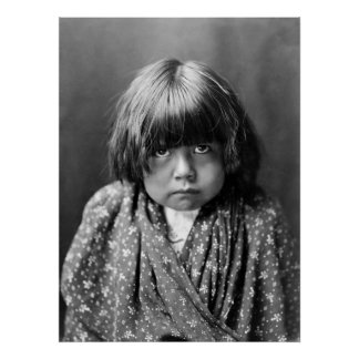 Tewa Indian Child, 1905 Poster