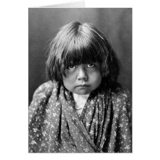 Tewa Indian Girl, 1905 Card