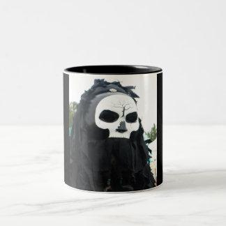 tewks scull Two-Tone coffee mug