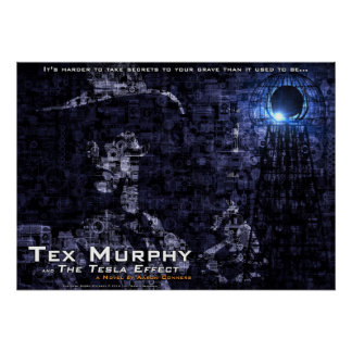 """Tex Murphy and The Tesla Effect Poster [28""""x20""""]"""