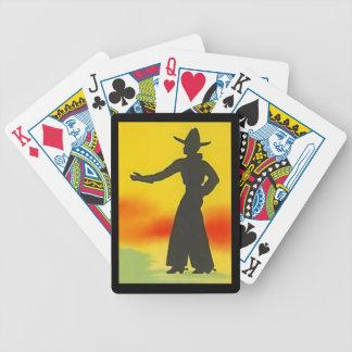 Tex Ten Gallon Hat Cowpoke Poker Playing Cards