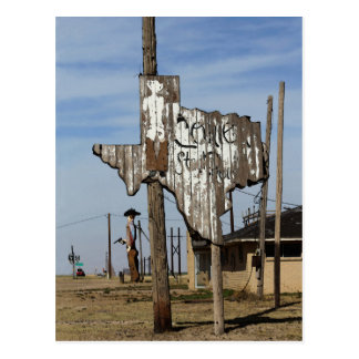 Tex the Cowboy and Texas Sign Post Card