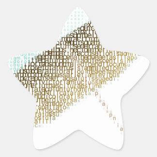tex umbrella star sticker
