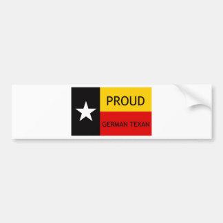 Texan alemán - Alemán-Americano Pegatina Para Auto