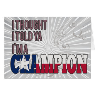 Texan and a Champion Card