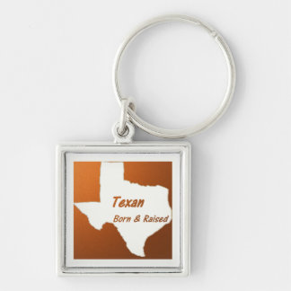 Texan Born & Raised Keychain