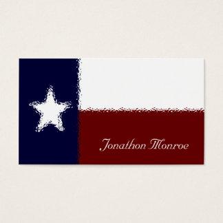 Texan de cristal del efecto de la bandera tarjetas de visita