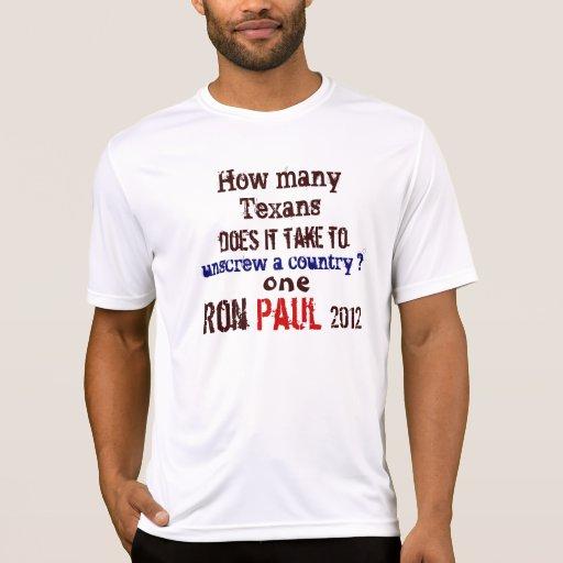 Texan de Ron Paul Tshirt