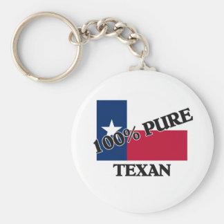 Texan del 100 por ciento llaveros personalizados