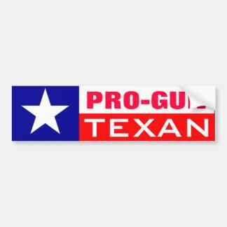 Texan del Favorable-Arma Pegatina Para Auto